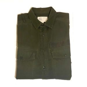 G-Star Type C Straight Long Shirt Army Green Large